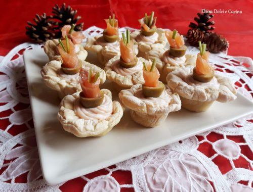 cestini di pane con mousse al salmone