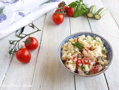 Cous cous verdure e gamberetti
