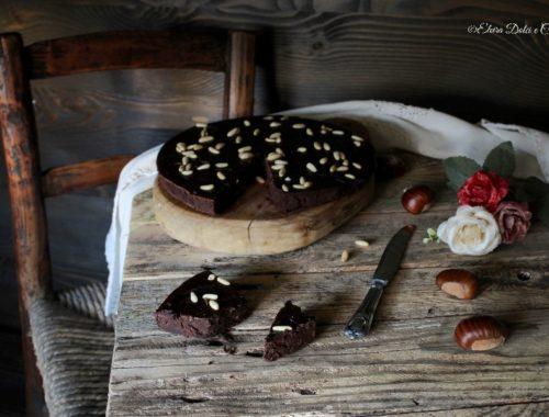 Castagnaccio al cioccolato con scorzette d'arancia