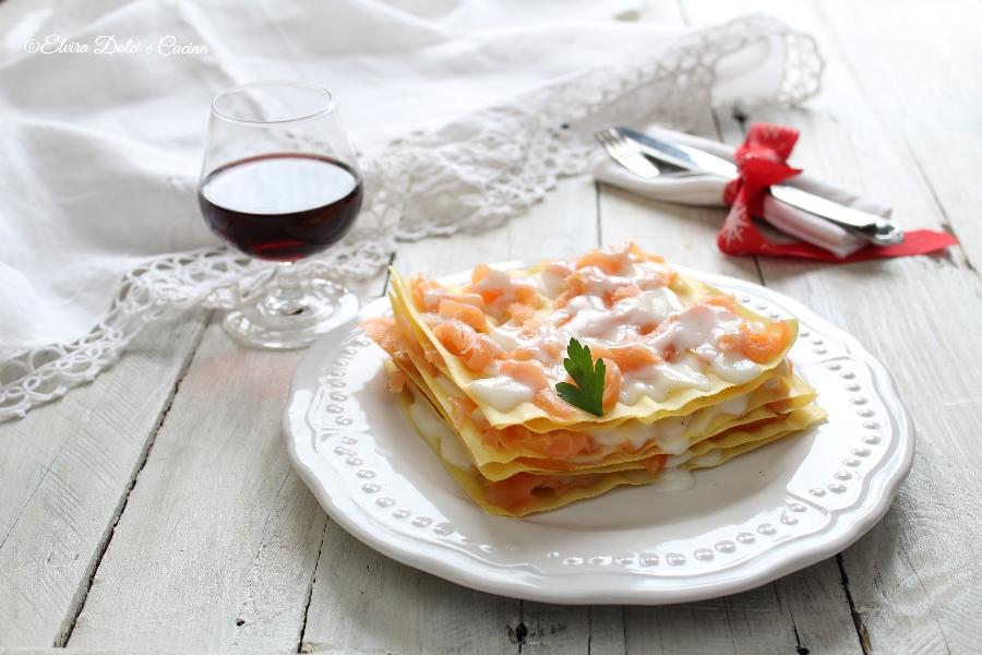 Lasagne al salmone con mozzarella