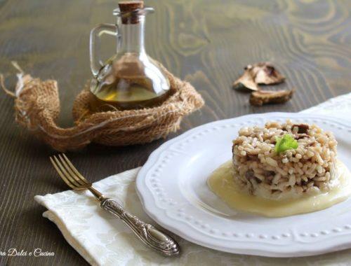 Risotto ai funghi porcini su fonduta di brie