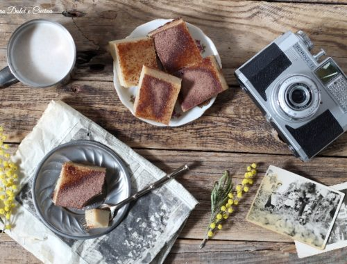 Quadrotti al cappuccino senza farina e burro