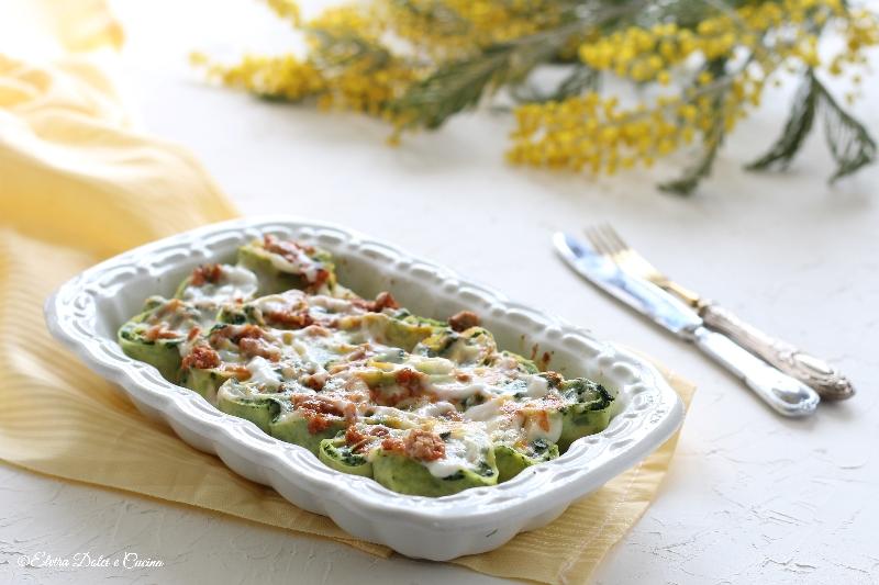 Rosette di lasagne con ricotta e spinaci