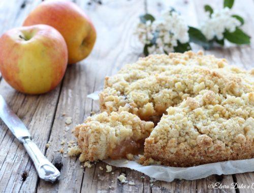 Sbriciolata di mele con confettura di mele cotogne