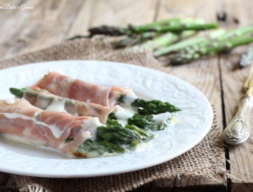 Involtini di asparagi e prosciutto cotto