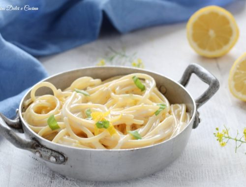 Spaghetti cremosi al limone