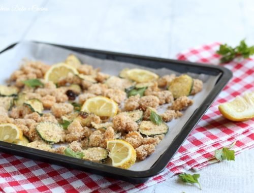 Zucchine e gamberetti gratinati in forno
