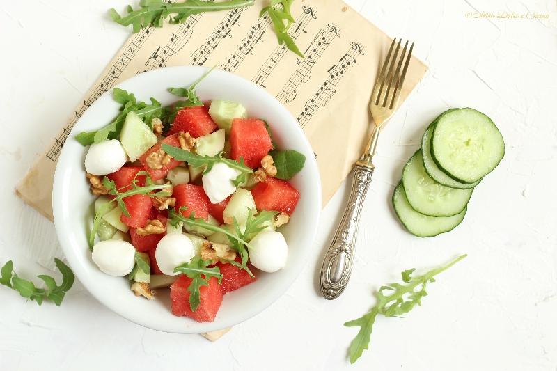Insalata di anguria, piatto fresco estivo