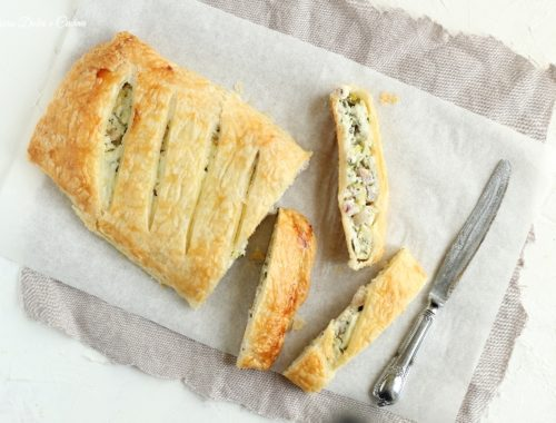 Strudel salato zucchine e pancetta