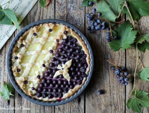 Crostata crema pasticcera e uva