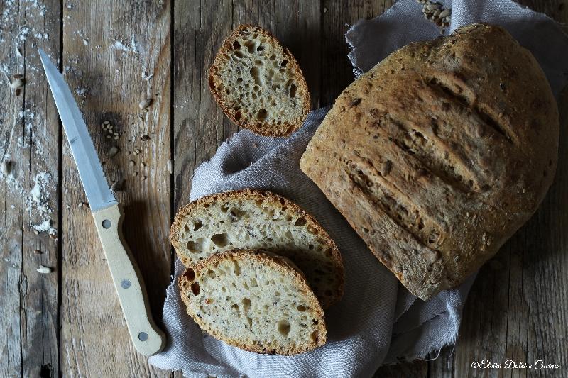 Pane ai cereali con semi misti a lievitazione lenta