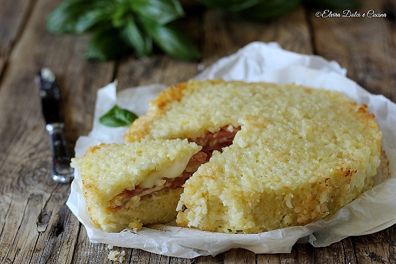 Sformato di riso con prosciutto e formaggio