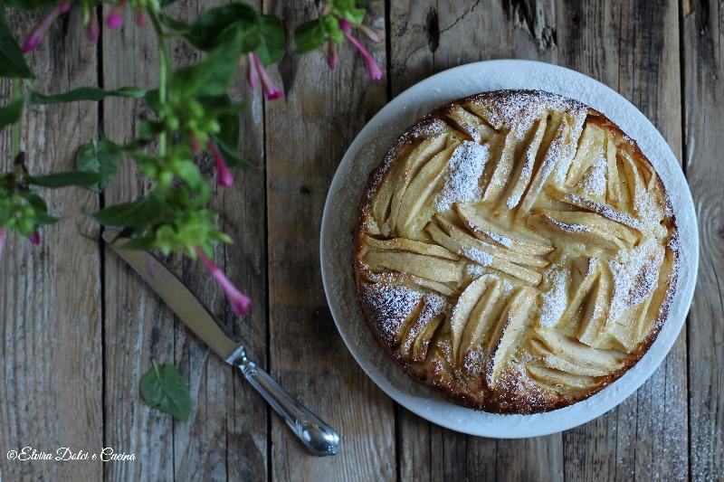 Torta di mele e ricotta ricetta senza burro e olio