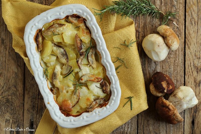 Sformato di patate funghi porcini e brie