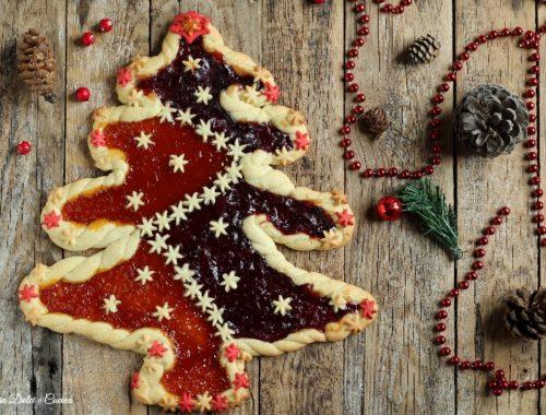 Crostata albero di Natale senza stampo