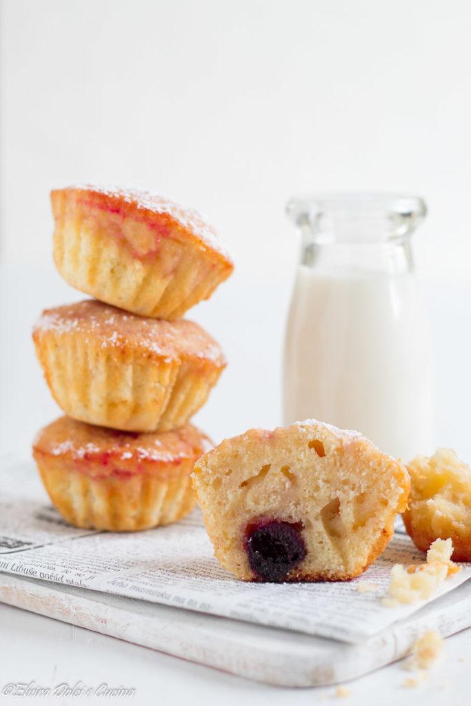 muffin ricotta e amarene