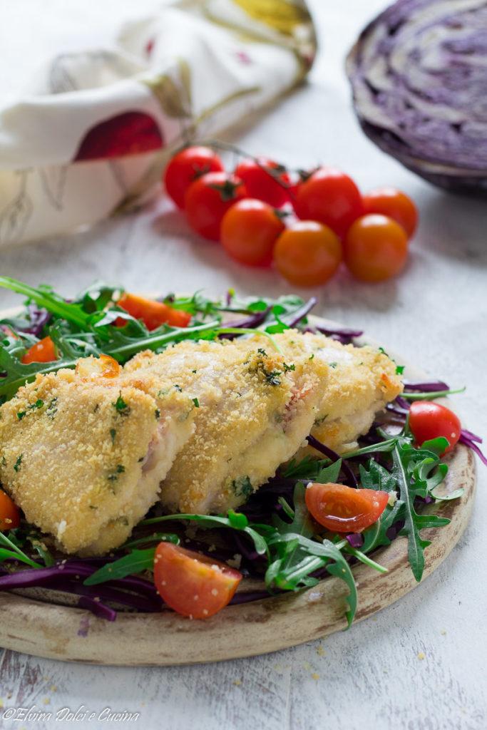Fettine di pollo ripiene al forno