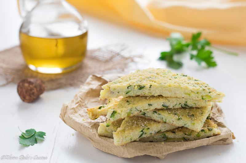 Focaccine di ricotta e zucchine ricetta senza farina