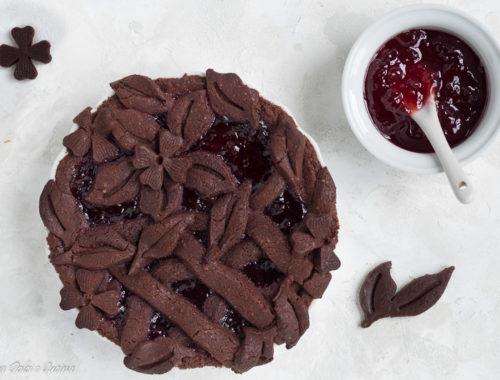 Crostata al cacao senza glutine e burro