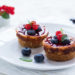 Mini cheesecake yogurt e frutti rossi