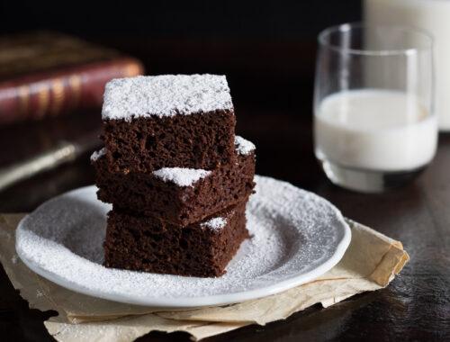Quadrotti zucca e cacao ricetta senza burro e olio