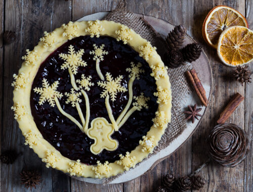 Crostata decorata di Natale