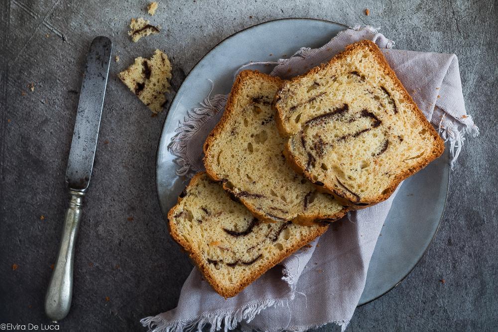 Plumcake alla vaniglia variegato al cacao