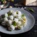 Pasta con crema di ricotta al basilico