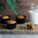 Muffin alla banana con cuore alla Nutella