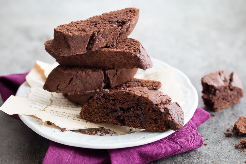 Cantucci toscani al cioccolato