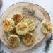 Focaccine di ricotta con zucchine e prosciutto cotto