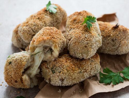 Crocchette di patate e tonno filanti