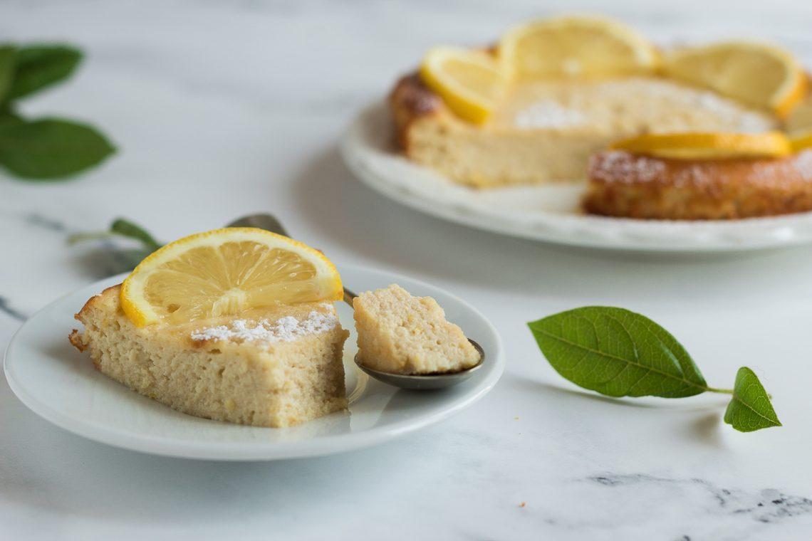Torta limone e ricotta senza farina