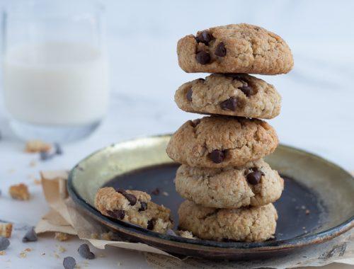 Biscotti morbidi cocco caffè e cioccolato