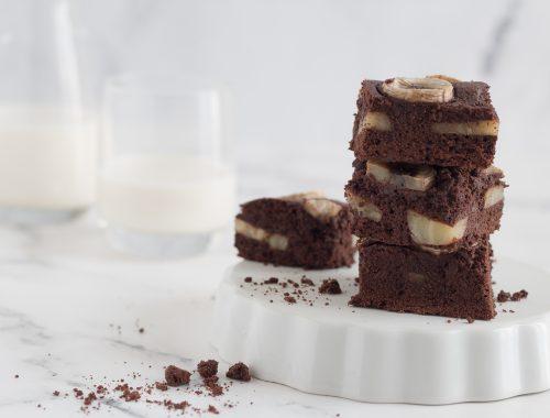 Brownies banana e cioccolato ricetta facile e veloce