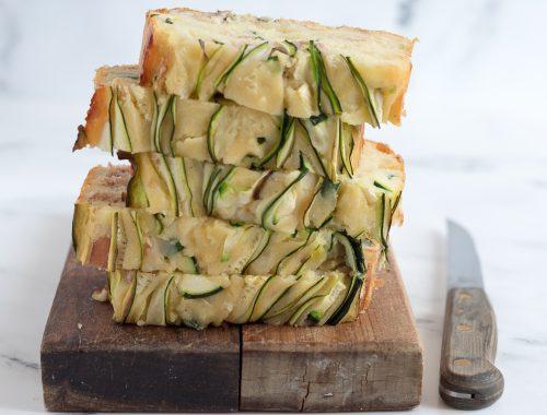 Plumcake salato zucchine speck e mozzarella